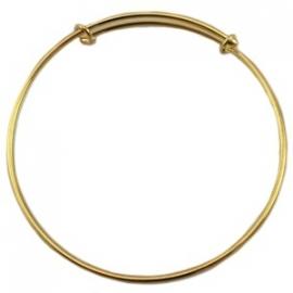 DQ metaal Bangle Goudkleur voor bedels