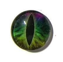 Dragon Eye 023, 25mm Glas Cabochon Rond
