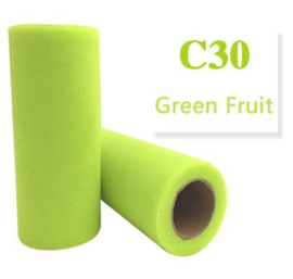 Tule Green Fruit 15cm breed  rol 22 meter C30