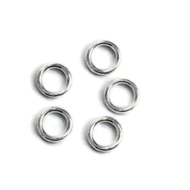 Gesloten Jump ring Silver Plated 6mm (100st.)