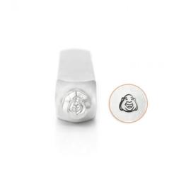 Design stempel Laughing Buddha Face 6mm ImpressArt