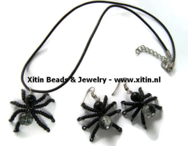 Tutorial DIY Halloween Spider Jewelry Set