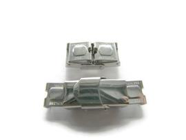 Leer klem Slot RVS voor 10mm breed leer Zilverkleur
