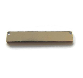 Connector Rectangle aluminium 38x6mm Premium