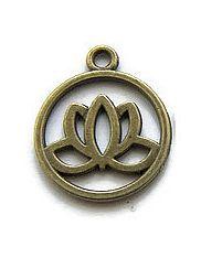 Bedel Lotusbloem in ring  Bronskleur