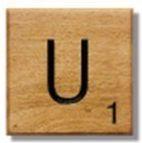 Houten Scrabble Letter U