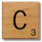 Houten Scrabble Letter C