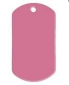 Dogtag Pink aluminium