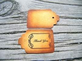 Sieraden Labeltje Smoked Thank You (10st)