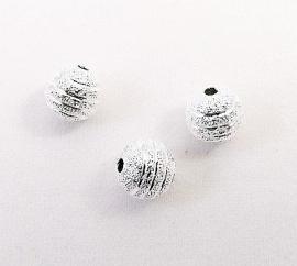 Kraal metaal Stardust carved 8mm