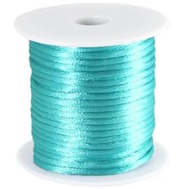 Satijnkoord Aqua Blauw 1mm dik