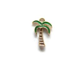 Bedel Palmboom Goud met gekleurde Emaille