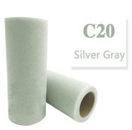 Tule Silver Gray 15cm breed  rol 22 meter C20