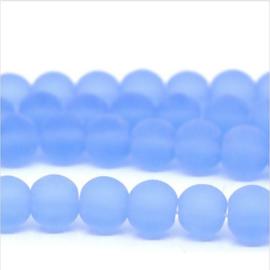 Glaskraal Mat Blauw 6mm (per streng)