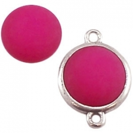 Cabochon Polaris matt 15 mm Fuchsia