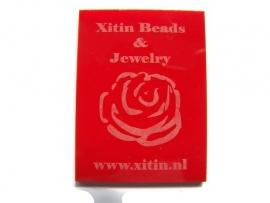Plexiglas Opaal Rood 60x45mm