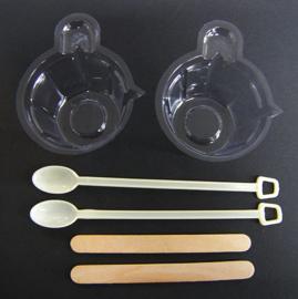 MINI basis wegwerp werkset UV-resin / Giethars (6 delig)