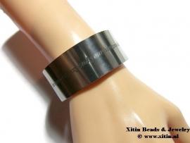 Armband strip aluminium 155 x 16 x 1,7mm ImpressArt