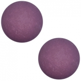 Cabochon Polaris matt 20mm Aubergine purple