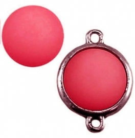 Cabochon Polaris matt 15 mm Paparacha roze