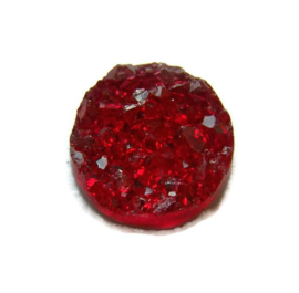 Druzy Resin cabochon rond  Rood 12mm