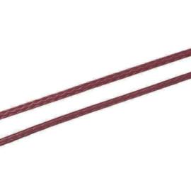 Koreaans Polyester Waxkoord Bordeaux Rood 0,5mm