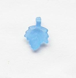 Acryl Blaadjes Frosted Blauw 002