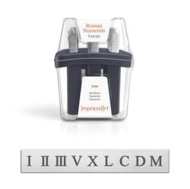 Roman Cijfer Set 3mm ImpressArt