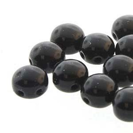 Candy Bead  Preciosa Jet Black 8mm