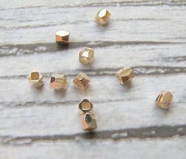 Kraal metaal facet 18k gold plated (10st.)