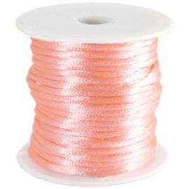 Satijnkoord Perzik Roze 1mm dik
