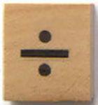 Houten Scrabble Symbool delen