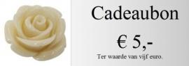 Cadeaubon 5,00 euro