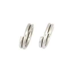 VOORDEELVERPAKKING 1000 stuks Split ring RVS 5mm