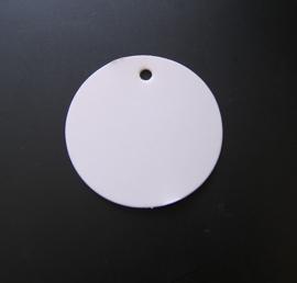 Craft Papieren Kaartje Rond Wit (10st)