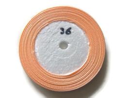 No.36 Zalm Roze Satijnlint 6mm (per rol)