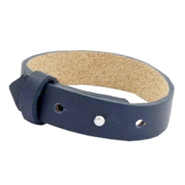 Cuoio Armband Leer 15mm Dark Midnight Blue