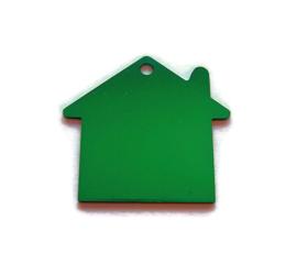 Tag Huisje Groen aluminium
