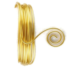 AluDeco Wire 1.5mm Light Gold Round (per meter)