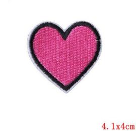 Applicatie Roze Hart met zwarte rand