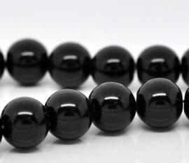 Glasparel Zwart 6mm (Per streng)