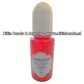 Resin Kleurpigment Rood Vloeibaar