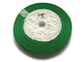 No.15 Donker Groen Satijnlint 10MM (per rol)