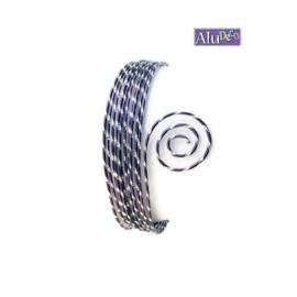 AluDeco Wire 2mm Aubergine Diamond Cut (5m)