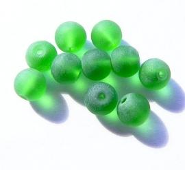 Glaskraal Mat Groen 8mm (10st.)