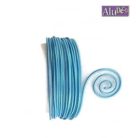 AluDeco Wire 2mm Turquoise Blauw Embossed (5m)