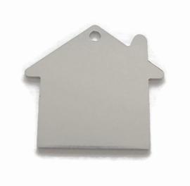 GROOTVERPAKKING 15 stuks Tag Huisje Groot aluminium
