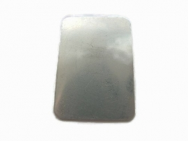 Rectangle tag aluminium plaatje 50x35mm