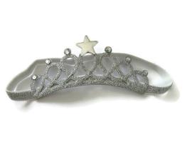 Haarband Kroontje Glitter Zilver