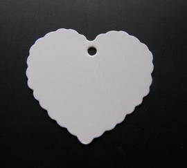 Craft Papieren Kaartje Hart Wit (10st)